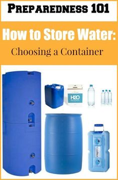 How to Store Water: Choosing the Right Containers Do you know how to store water? Well, there are lots of smart ways to store water for emergencies. Learn about the pros and cons of various containers so you can choose the best one(s) for you! Survival Food, Survival Prepping, Survival Skills, Zombies Survival, Survival Project, Doomsday Prepping, Survival Hacks, Survival Shelter, Apocalypse Survival