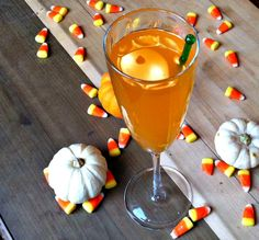 Enjoy a little extra magic potion with this fun and easy to make Enchanted Candy Corn Cocktail