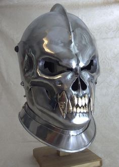 Medieval helmet skull theme