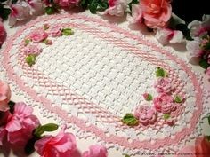 "Crochet: ""Beautiful napkin pad"" - maomao - my heart action"