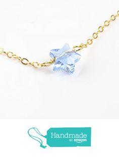 Tiny Star Necklace Blue Swarovski Crystal Pendant Charm Twinkle Little Star from 7PM Boutique http://www.amazon.com/dp/B01BMP35XU/ref=hnd_sw_r_pi_dp_OXnVwb1PDXRTG #handmadeatamazon