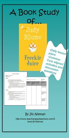 Freckle Juice Book study- 5 lessons and activities, common core aligned GR-M, DRA 28 Grades 2-3