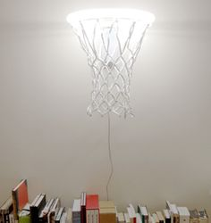 Basketball hoop light, great idea for boys room, I can see using 2 as sconces!