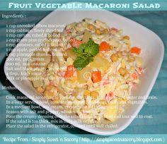 Simply Sweet 'n Savory: Fruit Vegetable Macaroni Salad