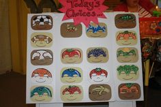 face painting display | some cool fruit & veg designs!