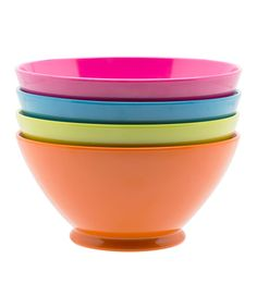 Look at this Bright Fresco Bowl - Set of Four on #zulily today!
