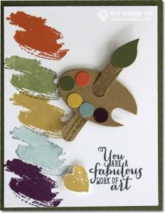 work of art-stampin up - artist palette STAMPIN WITH TAMI