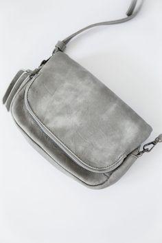 Grey Crossbody Purse