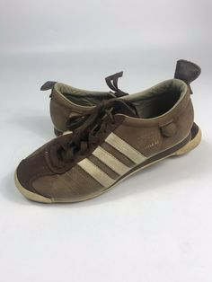 a2051a3d278c Adidas Chile 62 Trainers Brown Retro Leather Sneakers Shoes Mens 7/Womens 8  | eBay