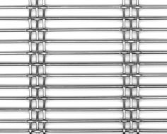 HAVER Architectural Wire Mesh DOGLA-TRIO 1033 made of stainless steel. Open area: ~ 67% | Main applications: Façade, Ceiling, Balustrade | Manufacturer: HAVER & BOECKER