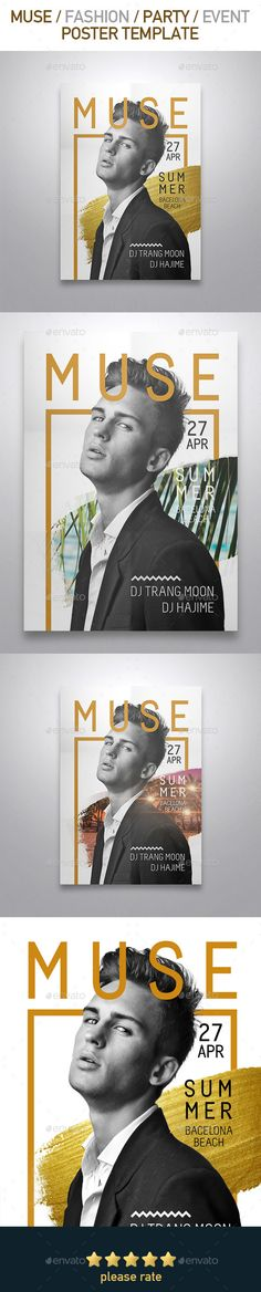 Party Fashion Poster Template PSD