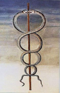 Caduceus- represents the union of opposites, the staff carried by Mercury, has become a symbol for doctors, healers