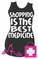 Text and Shapes Embroidery Design: Shopping Best Medicine from Windmill Designs