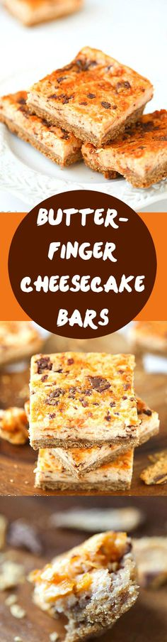 Butterfinger Cheesecake Bars Recipe - If you love butterfinger pie, you are going to love these! Everyone loves an incredible cheesecake recipes, even cheesecake bar recipes! Crunchy crust, then layered with an outrageous, creamy cheesecake layer!