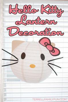 Hello Kitty Lantern Decorations, DIY Hello Kitty Lanterns - how to make hello kitty paper lanterns