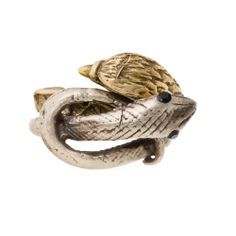 Serpent & Eagle Two-Tone Ring ~ Dara mixes metals everyday. It's fun to mix up gold and silver whenever you can. That's why we love this ring, and because it's the Serpent and an Eagle!