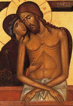 megdöbbentően mély és fájdalmas ez a kép. Jézusról és Szeretete Édesanyja iránt akinek könnyei az esőben folytak Jézus hajára vállára és Szent kezére. Égi szüleink együtt voltak mindig a Szentlélek pedig megjutalmazta Szűz Márát.