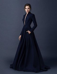 Sequins Navy Blue Wedding Dresses Paolo Sebastian 2015 - That's the one!!