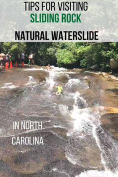 Important tips to know before you visit the Sliding Rock natural waterslide located in Pisgah National Forest in North Carolina. The River, Diablo Lake, Oh The Places You'll Go, Cool Places To Visit, Places To Travel, Zhangjiajie, Blue Ridge Parkway, Blue Ridge Mountains, North Cascades National Park