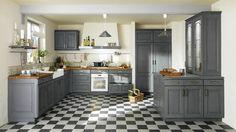 Déco cuisine : 10 idées pour une cuisine rustique // http://www.deco.fr/diaporama/photo-une-deco-de-style-maison-de-famille-dans-la-cuisine-3550/