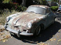 Porsche 356 rotting in Berkeley, CA