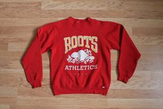 Roots Sweater Roots Canada Sweater Red by MileZeroVintage Roots Clothing, Beaver Logo, Fall Clothes, Clothes For Women, Cotton Sweater, Red Sweaters, Spring Outfits, Hoodie Sweatshirts, Hoodies