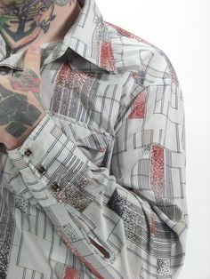 Mens 70s Disco Westen Shirt XL by snootieseconds on Etsy, $39.00
