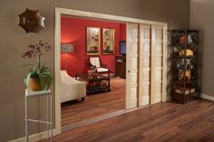 maybe for the MBR opening from the hall... instead of doors that swing out???  Johnson Hardware® MULTI-PASS SLIDING DOOR HARDWARE