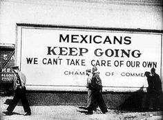 """mexicans keep going"" sign"