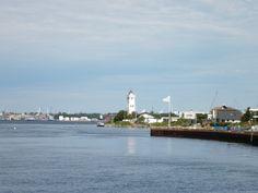 Haven en vuurtoren van Strib (Denemarken)