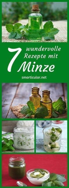 Minze für das ganze Jahr konservieren – 7 gesunde Rezepte Peppermint not only has a distinctive aroma, but also has many healthy ingredients. Try one of these recipes to preserve their medicinal properties for the whole year! Detox Drinks, Healthy Drinks, Detox Recipes, Healthy Recipes, Mint Recipes, Salud Natural, Diet And Nutrition, Preserves, Peppermint