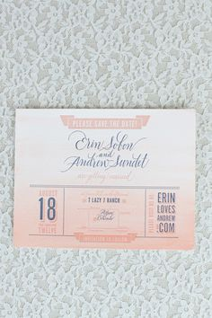 Oh So Beautiful Paper: Erin + Andrew's Ombre Watercolor and Letterpress Wedding Invitations
