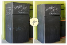 I want to try this with chalkboard contact paper. Easier to fix if I don't like it.