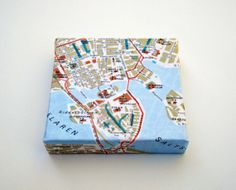 Stockholm Map on Canvas by yinsteadofi on Etsy