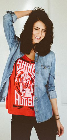 Shine a light on Autism.Visit Sevenly to purchase a shirt and support Autism Awareness World Autism Awareness Day, Disability Awareness, Summer Outfits, Cute Outfits, Vs Fashion Shows, Tumblr Fashion, Street Look, Contemporary Fashion, Passion For Fashion