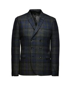 Irvine wool blazer - Blazers - Tiger of Sweden Tiger Of Sweden, Tartan, Suit Jacket, Menswear, Mens Fashion, Wool, Jackets, Clothes, Collection