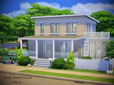 the family dream house is perfect for Found in TSR Category 'Sims 4 Residential Lots' Sims 4 Family House, Sims 2 House, Sims 4 House Plans, Sims 4 House Building, Sims 4 House Design, Sims 4 Ps4, Sims Freeplay Houses, The Sims 4 Lots, Casas The Sims 4