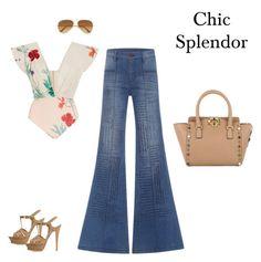 """Chic splendor"" by chic-splendor on Polyvore featuring Johanna Ortiz, Yves Saint Laurent, Valentino and Ray-Ban"