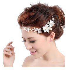Boutique Wedding Silver-tone Flower Pearl Bead Hair Comb Hair Pins Bridal Accessories