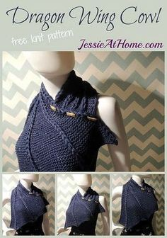 Dragon Wing Cowl ~ free knit pattern by Jessie At Home