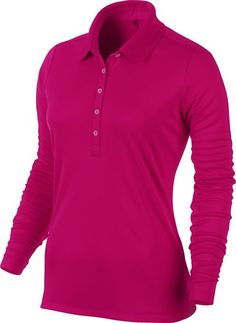 This classic looking womens Victory long sleeve golf polo shirt by Nike utilizes Dri-Fit fabric to wick away sweat and help keep you dry and comfortable Nike Womens Golf, Womens Golf Polo, Nike Golf, Golf Polo Shirts, Golf Bags, Victorious, Long Sleeve, Tennis, Mens Tops