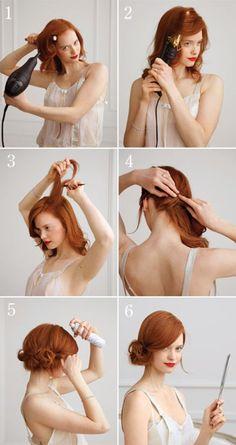 Techniques pour savoir comment faire un chignon flou facile et rapide à faire soi même avec les cheveux longs, une coiffure tendance.
