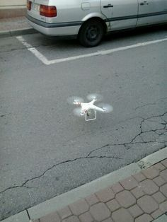 Dron on the street