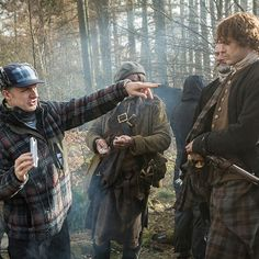 Outlander behind the scenes with Sam, Graham and Stephen.
