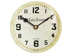 """Telechron White 10"""" The printed art work is adhered to a glass dial."""