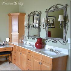 mirrors and lamps idea///masterbathroom1