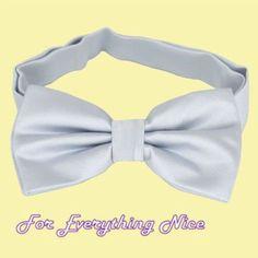 Light Silver Grey Formal Groomsmen Groom Wedding Mens Neck Bow Tie
