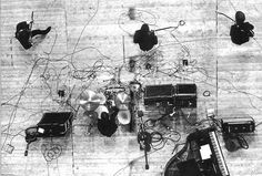 Awesome aerial shot of the Beatles stage set-up from the Paris concert of 20th June 1965.