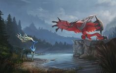 Pokemon X and Y, Xerneas and Yveltal - Now thats amazing. So excited for this release!!!