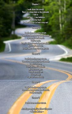 There is a hole in my sidewalk poem... | Healthy ...